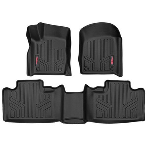 Tappetini anteriori e posteriori Heavy Duty Rough Country per Jeep Grand Cherokee WK2 (2013-2016) con connettori ad uncino