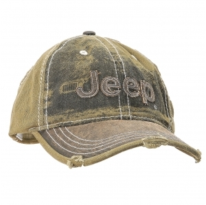Mopar Heavy Stone Washed Olive Jeep Cap