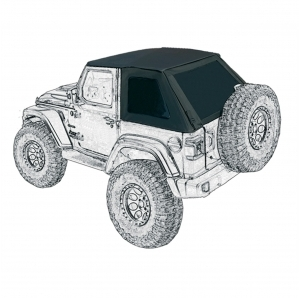 Suntop Ultimate  Top Fastback U2 per Jeep Wrangler JL 2 porte