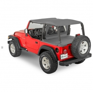 QuadraTop Bimini Top Plus, Clearview Windstopper & Tonno Cover Combo per Jeep Wrangler TJ 03-06