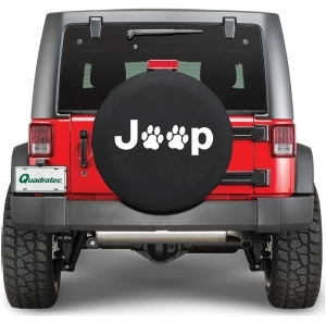 Copri ruota Quadratec Jeep Paw Prints Dog Lover