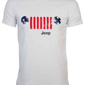 "T-SHIRT "" US Flag Grille"" Colore Optical White"