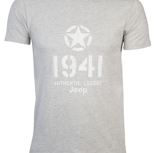 "T-SHIRT ""Star 1941"" Colore Light Grey Melange"